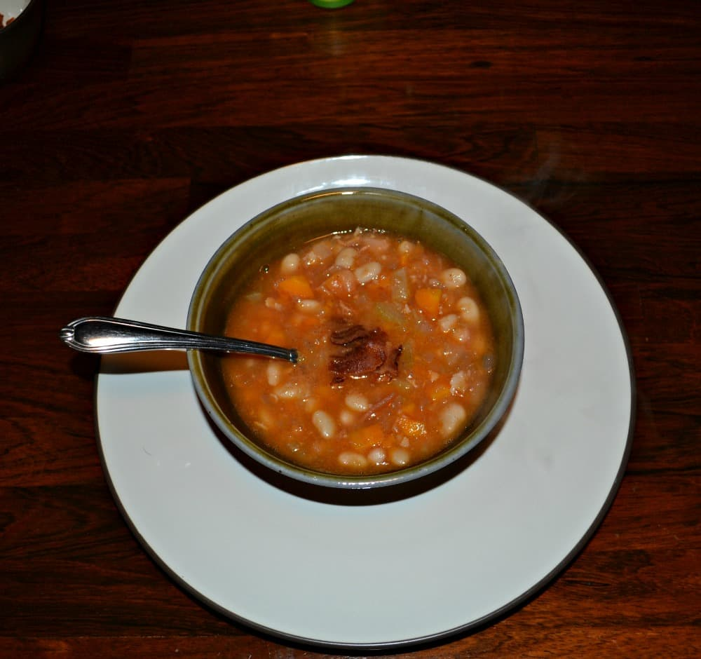 Love these flavor of this Bean and Bacon Soup