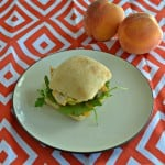 Chicken, Peaches, and Arugula on a Focaccia Roll #SundaySupper