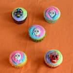 Sugar Skull Cupcakes for The Day of the Dead
