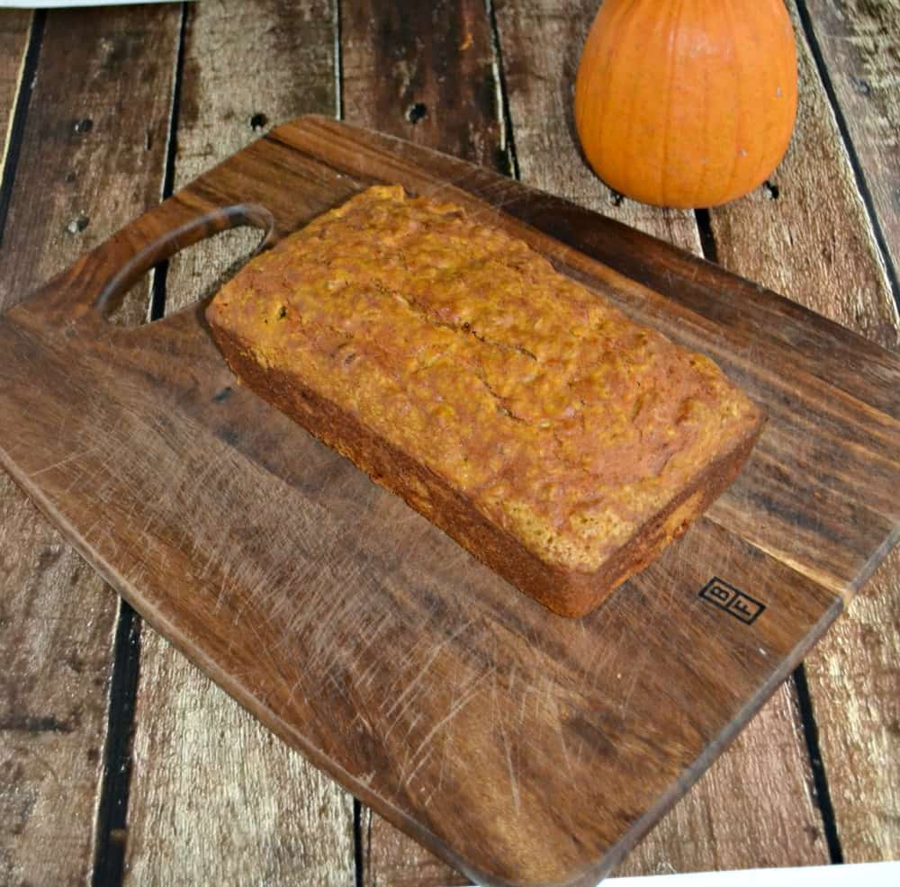 Fall Harvest Bread combines three flavors of fall: Pumpkin, apple, and walnuts.