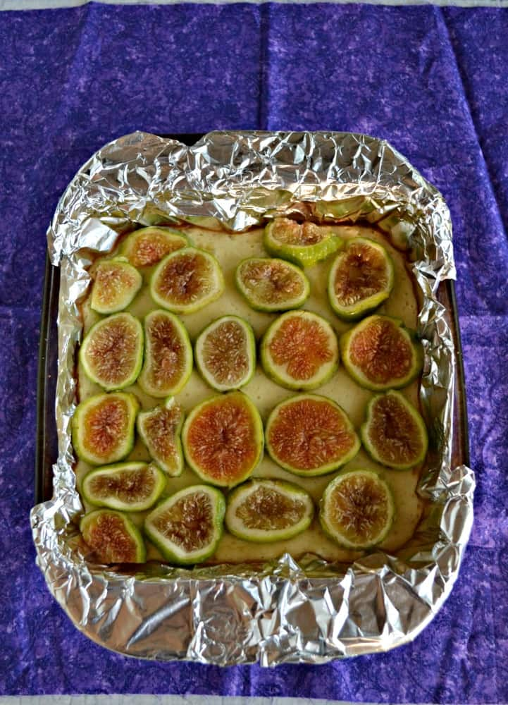 Creamy Honey Cheesecake topped with Fresh Figs