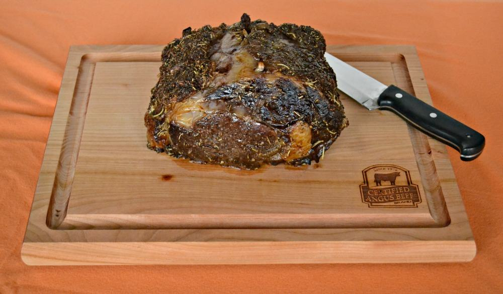 Look at that wonderful Herb and Garlic crust on this Certified Angus Beef Brand Ribeye Roast