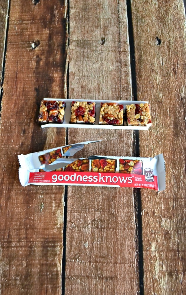 goodnessknowns snack squares are the perfect combination of real fruit, nuts, and dark chocolate.
