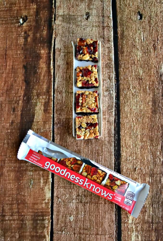 Love the new goodnessknows cherry, almond, and dark chocolate snack squares
