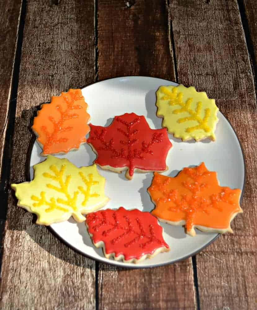 Fun Fall Leaf Cookies are easy to make