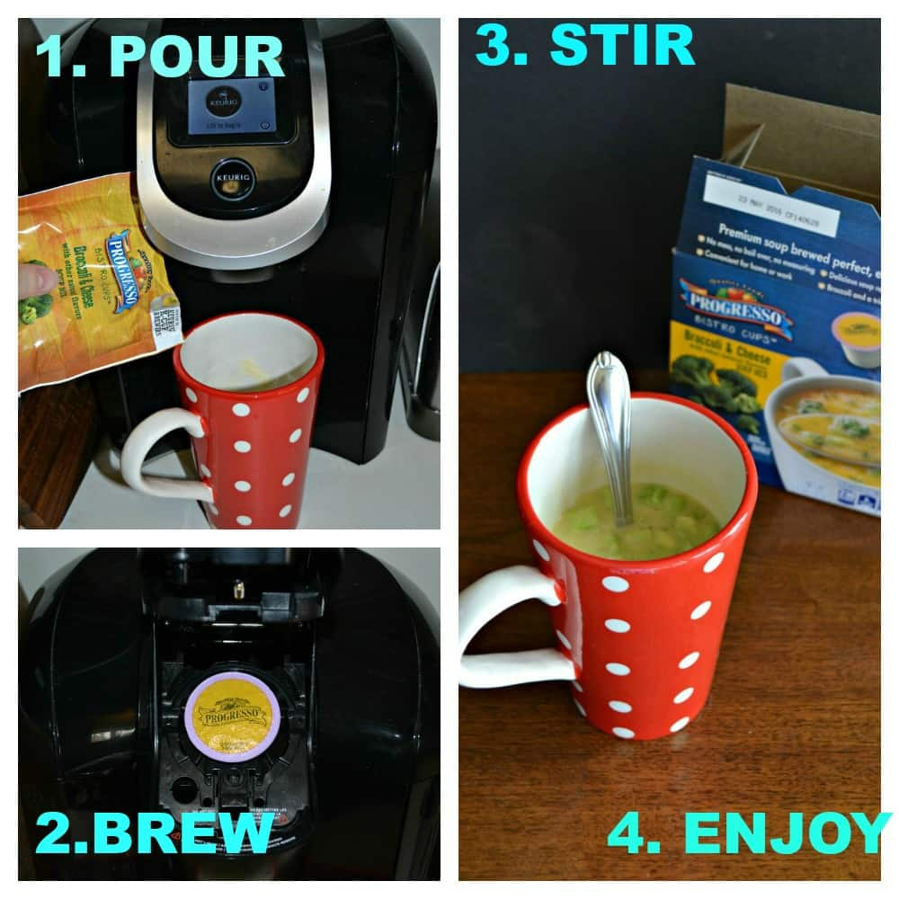 Progresso Soup Bistro Cups are as easy as 1, 2, 3, 4!