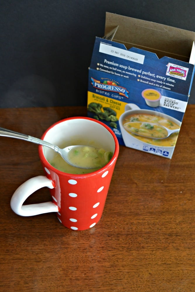 Check out Progresso Soup Bistro Cups made in your Keurig machine!