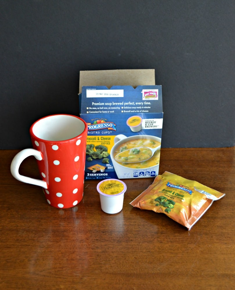 Making Progresso Soup Bistro Cups is simple and delicious!