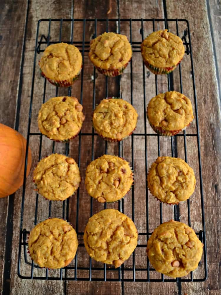 Pumpkin Butterscotch Cupcakes are a tasty fall treat
