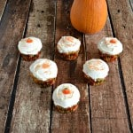 Pumpkin Butterscotch Cupcakes with Caramel Frosting