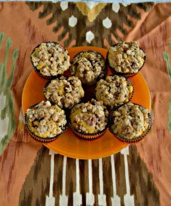 Pumpkin Cranberry Muffins with a Pecan Oat Crumble #PumpkinWeek