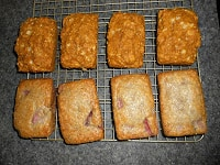 Quick Breads:  Pumpkin Spice and Strawberry flavors!