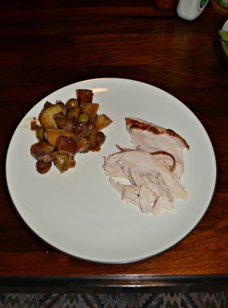 Harvest Roast Chicken With Grapes Olives And Potatoes