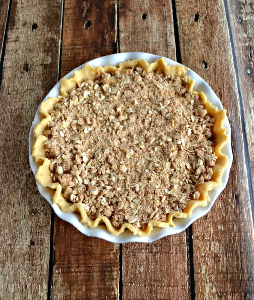 Apple Pear Crumble Pie made with King Arthur Flour and Kerrygold Butter