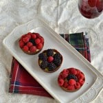 Chocolate Cups Filled with Cinnamon Pastry Cream and Berries #SundaySupper