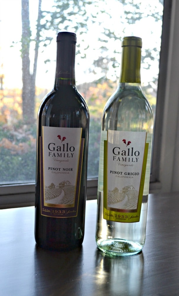Gallo Family Vineyards Pinot Grigio and Pinot Noir are perfect for the holidays