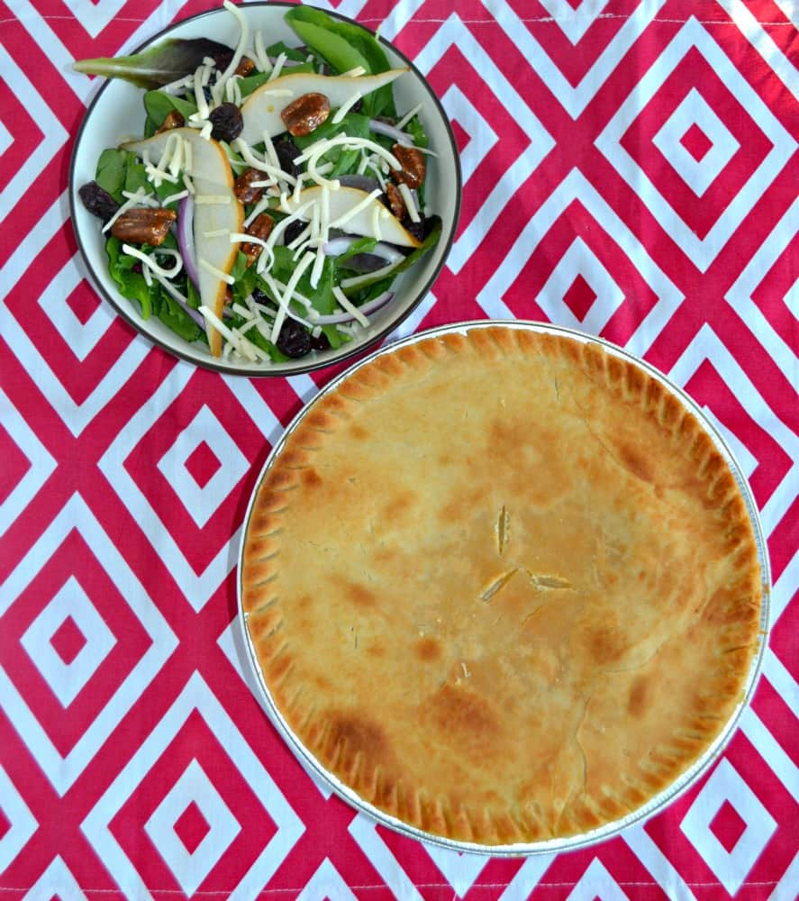 Marie Callender Pot Pie with Winter Salad and Homemade Citrus Dressing is a delicious and easy meal.
