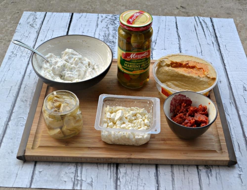 Mediterranean Layer Dip with Mezzetta Olives
