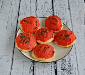 Red Frosted Cookies