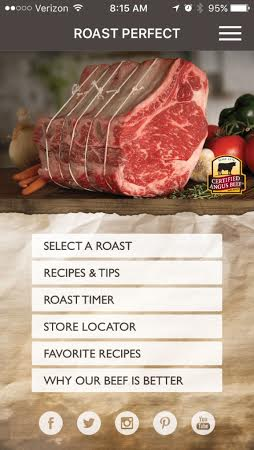 Try the Roast Perfect app for perfect beef every time!