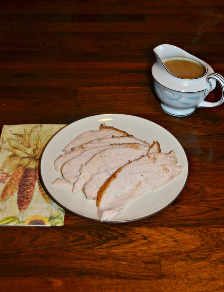 Check out this moist and juicy roasted turkey breast with easy homemade gravy.