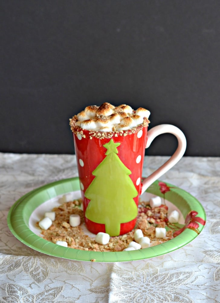 S'mores Hot Chocolate is overflowing with toasted marshmallows