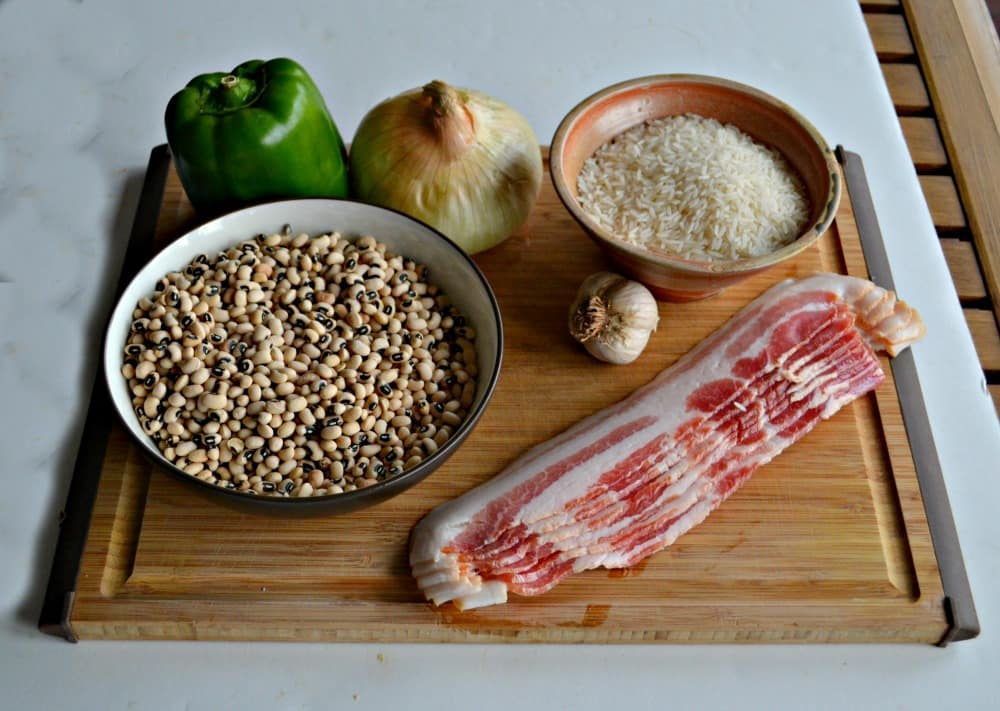 Hoppin' John is a traditional southern dish eaten on New Year's Day but it's great all year round!