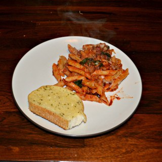Enjoy a delicious and comforting meal with this Baked Penne with Spinach and Sausage