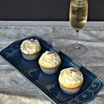 Vanilla Cupcakes with Champagne Frosting