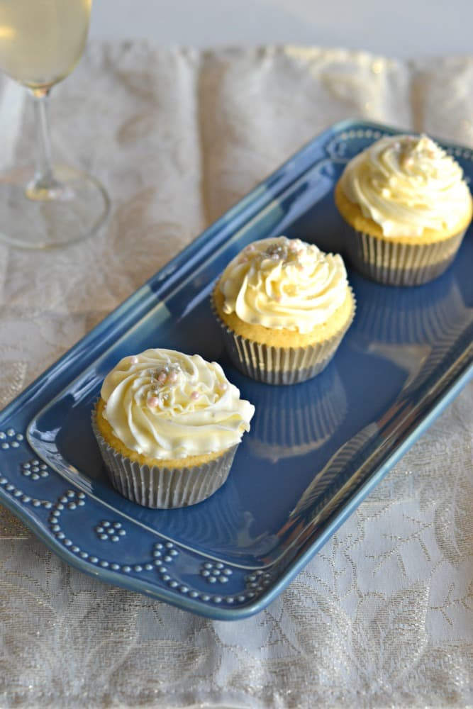 These Vanilla Cupcakes with Champagne Frosting are one of my favorites!