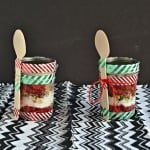 Holiday Cherry Pie Parfaits + Holiday Mason Jar Gift Giving Tutorial