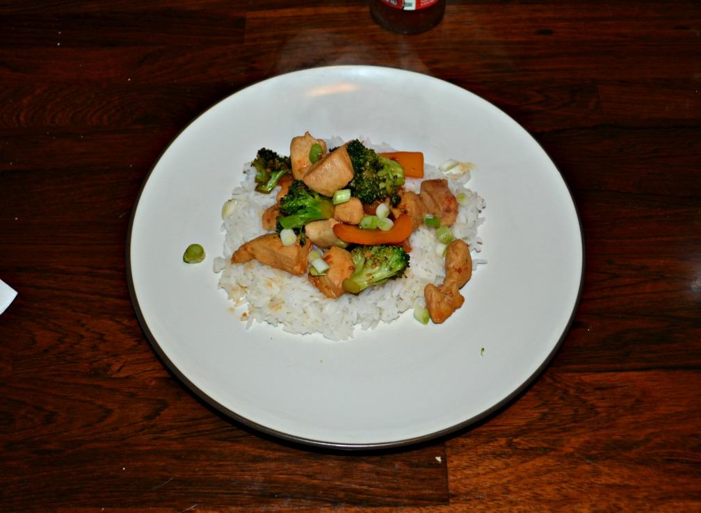 Enjoy this flavorful Thai Chicken and vegetables over rice