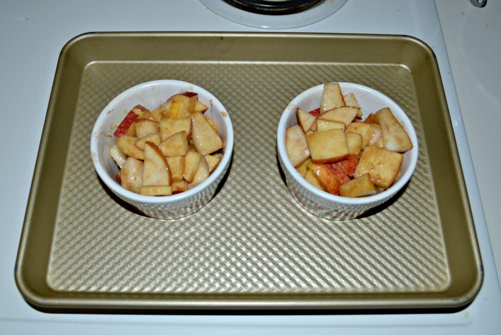 Fresh apples and pears combined with spices make a tasty Apple Pear Crisp for 2!