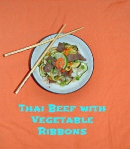 Thai Beef with Vegetable Ribbons #SundaySupper