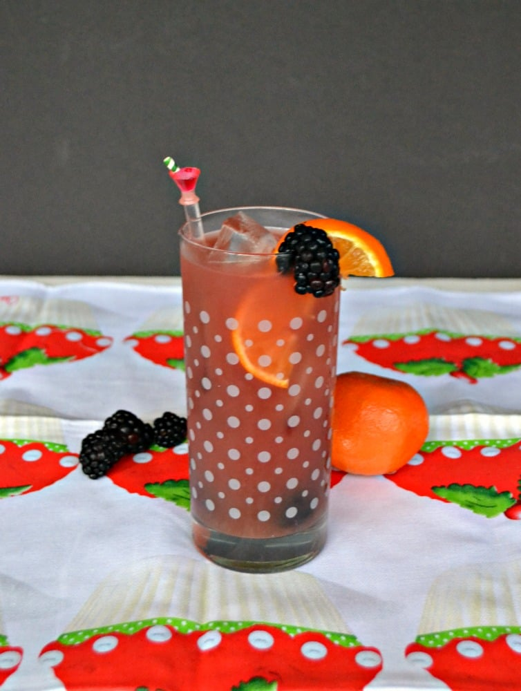 Make your sangria fruity with blackberries and oranges!