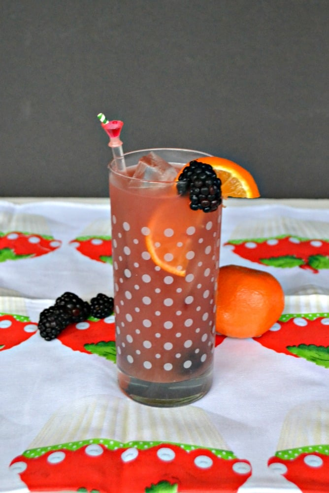 Tasty and pretty Blackberry Orange Sangria is easy to make! No simple syrup required.