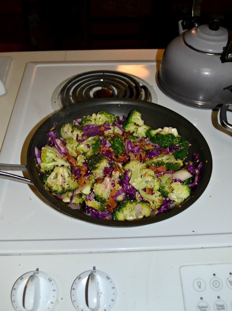 This Bacon and Broccoli with Red Cabbage is a bright and flavorful side dish