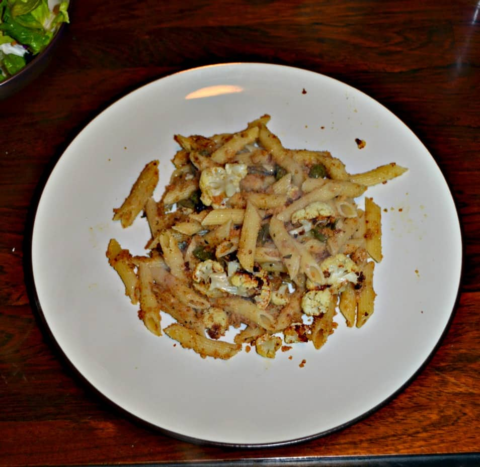 Change up your pasta tonight and make this Penne with Cauliflower and a Brown Butter Mustard Sauce!