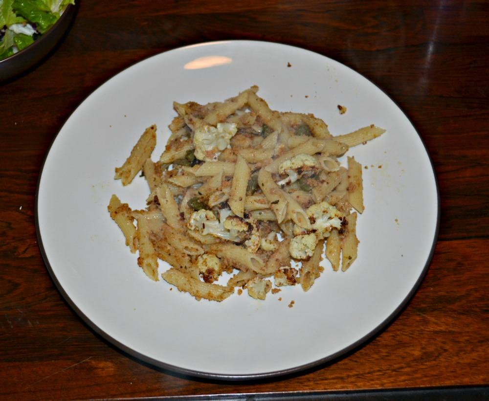 Penne with Roasted Cauliflower and Brown Butter Mustard Sauce