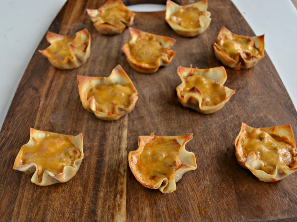 Chili Cheese Bean Dip Cups are an easy and fun Game Day appetizer!