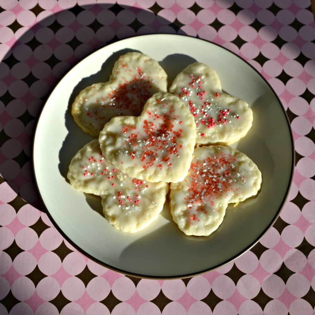 Give these Happy Heart lemon Cookies for Valentine's Day