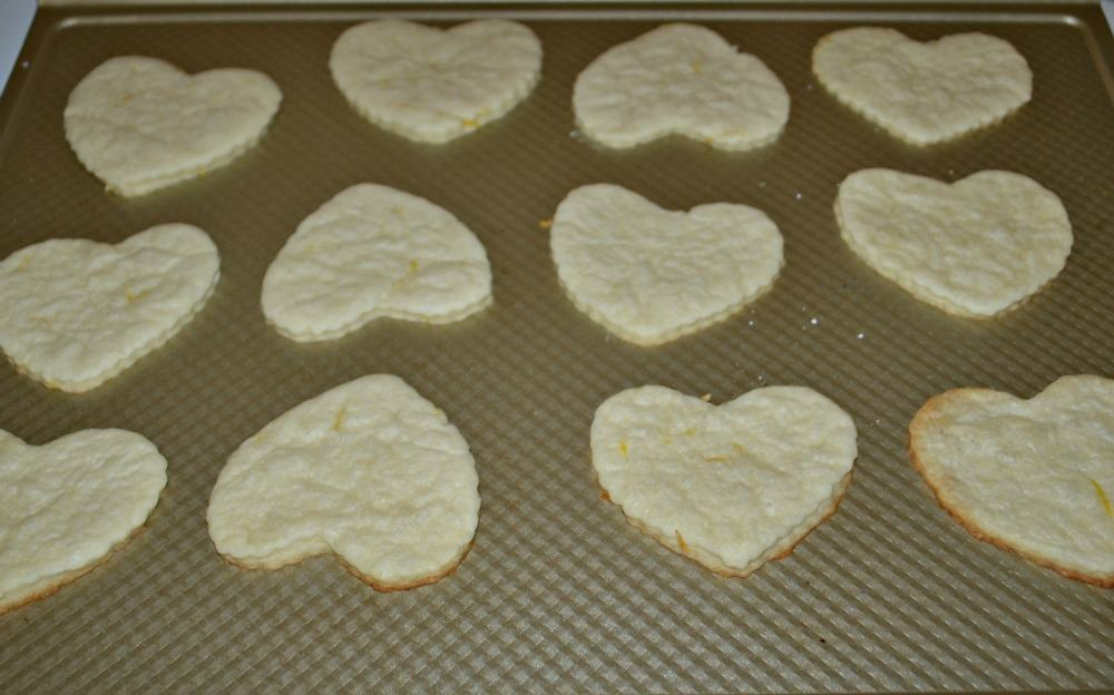 Make these Lemon flavored heart shaped cookies!