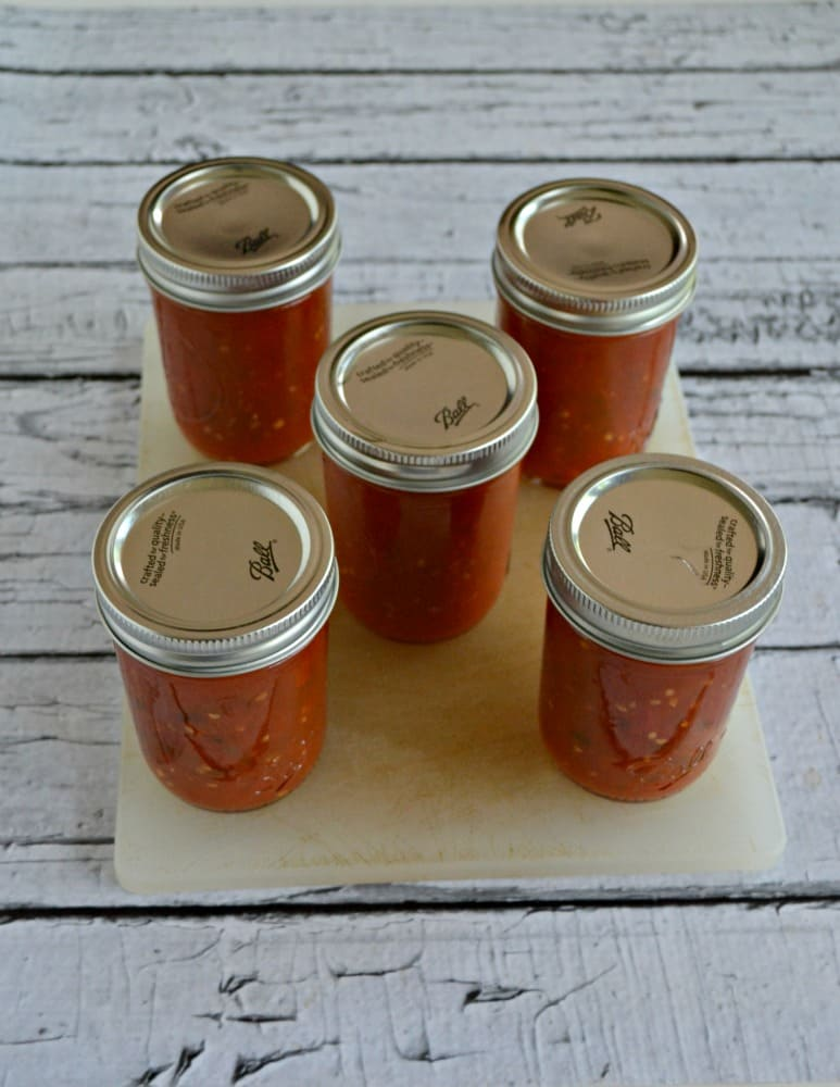 I love canning every summer and fall and this homemade hot sauce is one of my favorites!