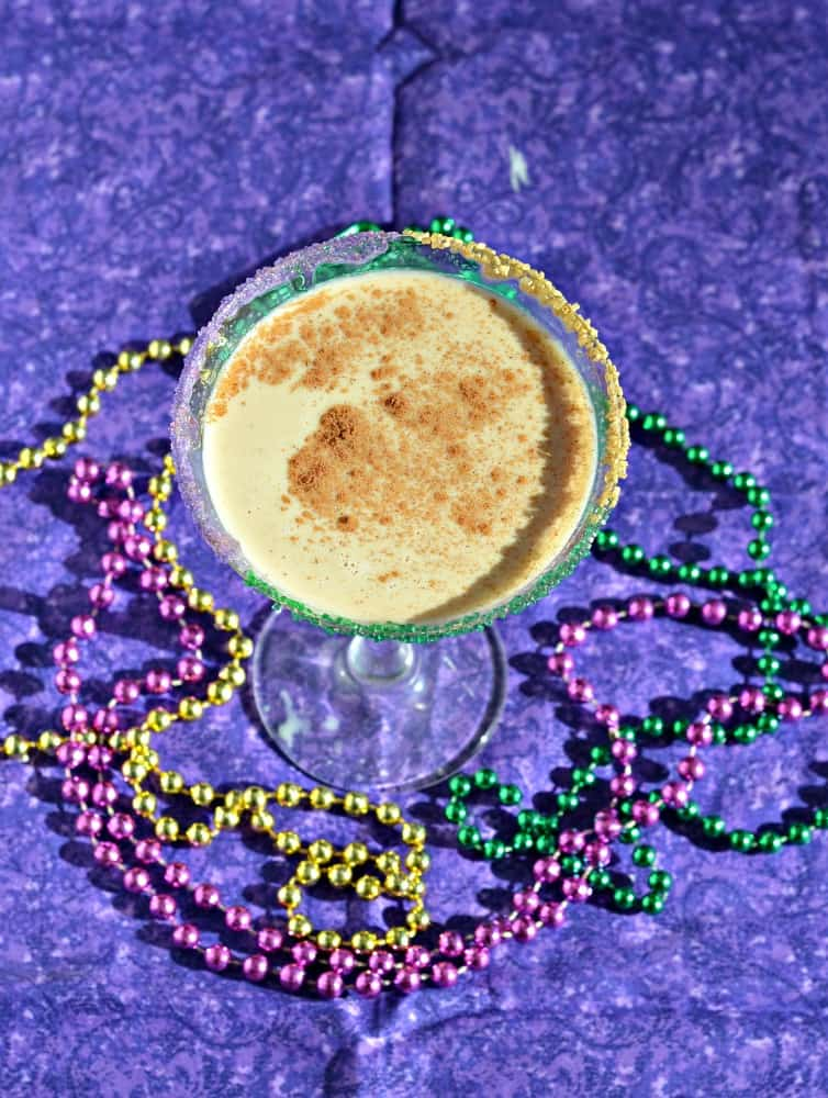 King Cake Cocktail combines all the delicious flavors of the classic King Cake for Mardi Gras