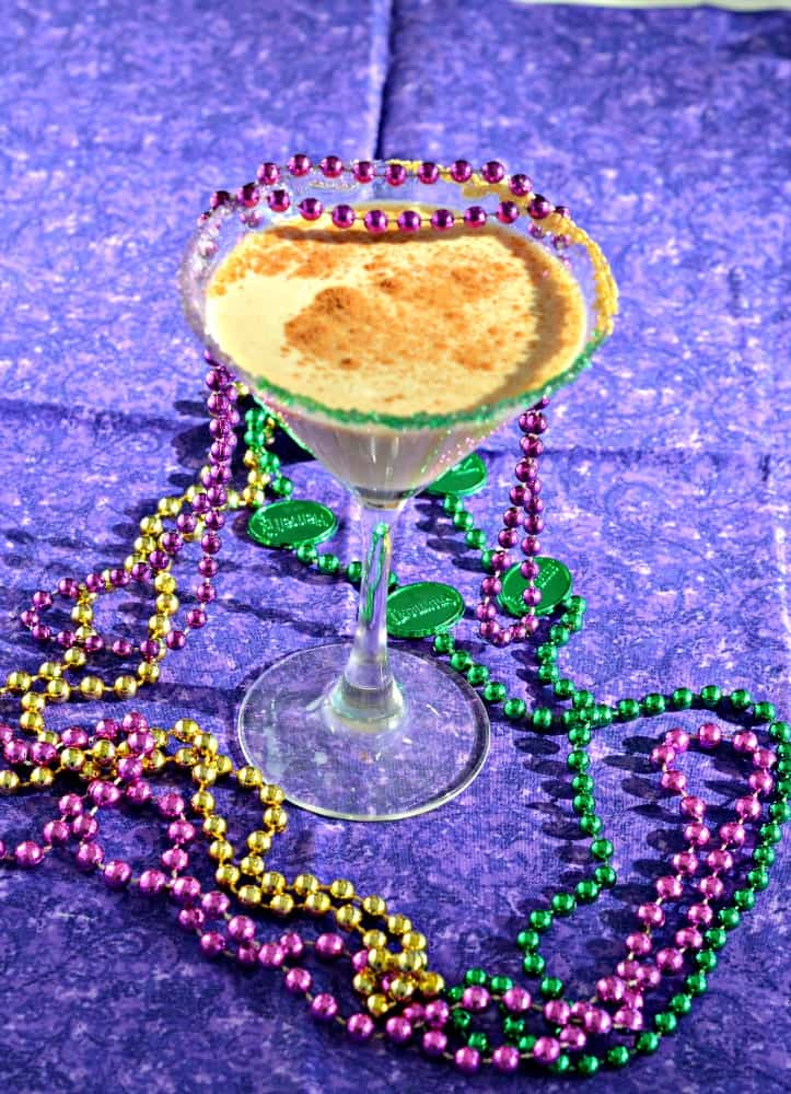 King Cake Cocktail is a delicious spiced drink that's a great Mardi Gras recipe