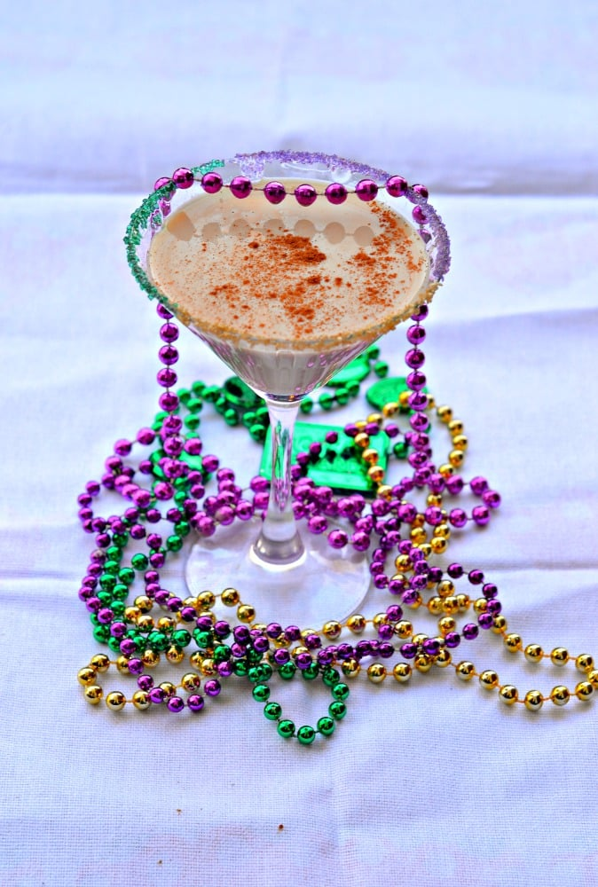 King Cake Cocktail for Mardi Gras