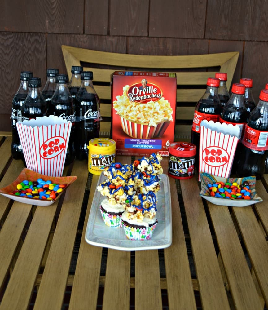 Everything you need for a Movie Night including my own special recipe for Movie Theater Cupcakes!