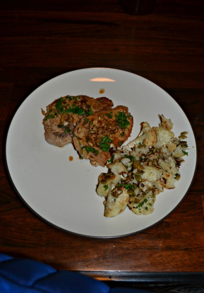 I love all of the flavors in these Pork Chops with Almond and Paprika Vinaigrette