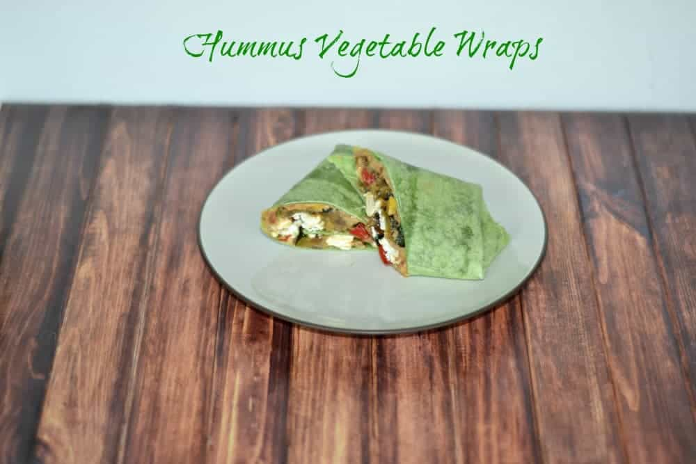 Hummus Vegetable Wraps are great as an appetizer or for lunch!