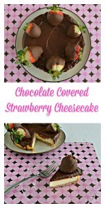 This Chocolate Covered Strawberry Cheesecake takes just 20 minutes to put together!